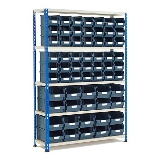 GS340 Shelving 1600h x 1120w - 62 Picking Bins