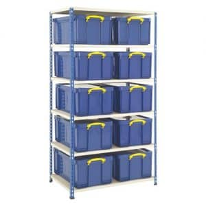 GS340 Shelving - 10 x 64 Litre Really Useful Boxes