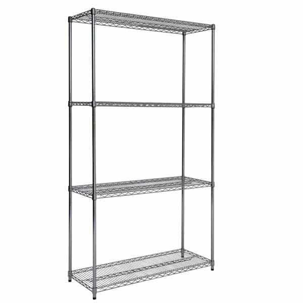 Chrome Wire Shelving - 4 shelves 1880h x 1830w