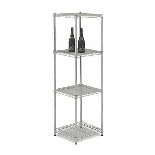 Chrome Wire Square Shelving Bays - 4 Shelves