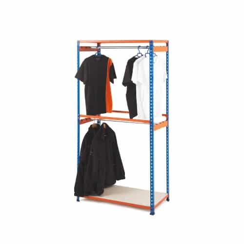 GS340 Shelving - Garment Shelving 1980h - 2 levels