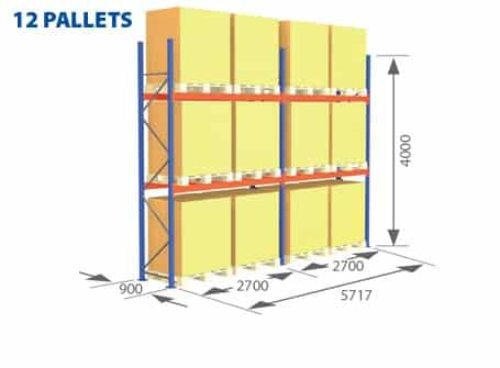 Pallet Racking Complete Systems - 12 Pallets