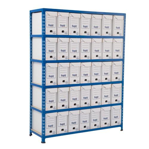 GS340 Shelving - 25 Flip Top Boxes