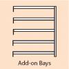 Steel Shelving Add On Bay - 5 Steel Shelves 2000h x 1000w