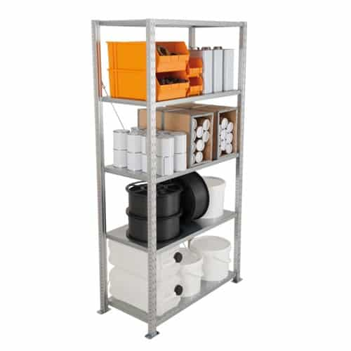 Steel Shelving - 5 Steel Shelves 2000h x 1250w