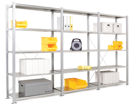 Steel Shelving - 5 Steel Shelves 2000h x 1000w