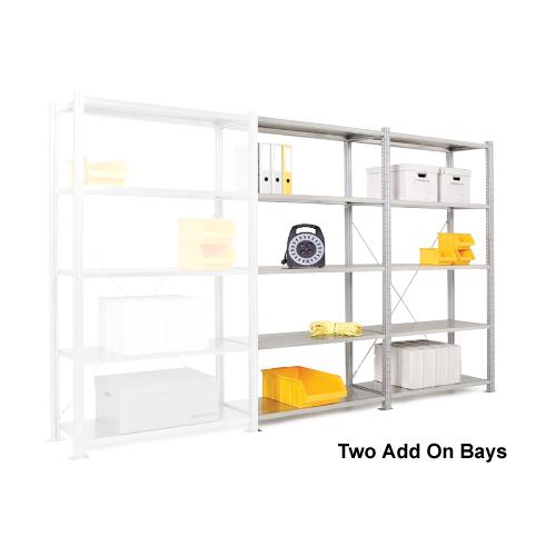 Add On Steel Shelving Bay - 5 Steel Shelves 2000h x 1000w