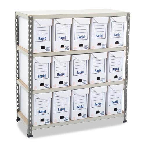 GS340 Shelving - 15 Flip Top Boxes