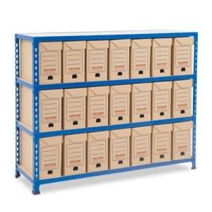 GS340 Shelving - 21 Flip Top Boxes