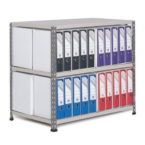 GS340 Shelving Lever Arch File Bay - Double Sided - 40 x A4 files