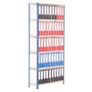 GS340 Shelving Lever Arch File Bay - Single Sided - 50 x A4 files