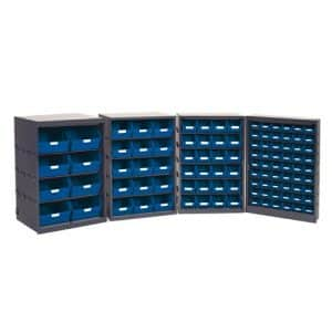 Budget Bin Cupboard with bins and labels - 15 Bins