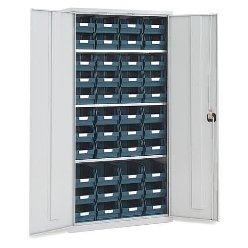 Tall Lockable Bin Cupboard with 44 x No.104 bins