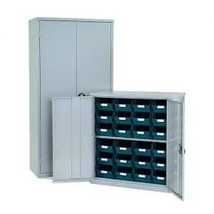 Lockable Bin Cupboard 24 x no.104 bins