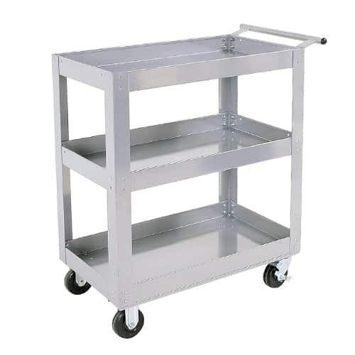 Silver Range 3 Shelf Trolley