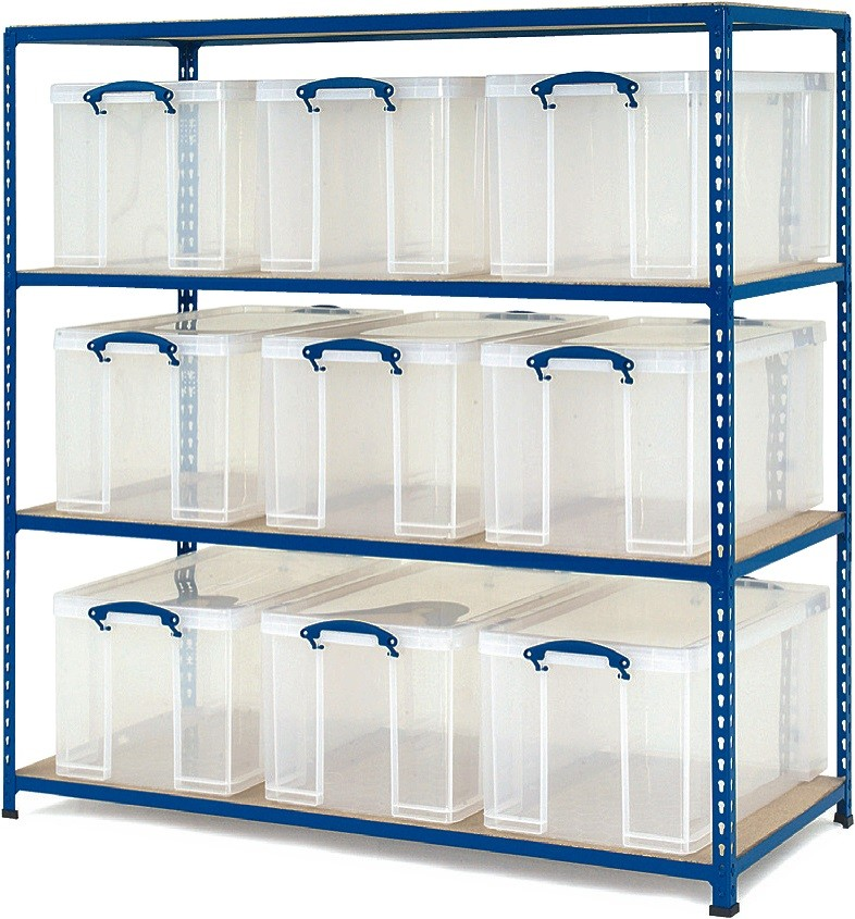 GS340 Shelving – 9 x 35 litre Really Useful Boxes